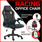 OFFICE CHAIR ADJUSTABLE ERGONOMIC RACING GAMING SWIVEL PU LEATHER DESK COMPUTER