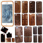100% Natural Carved cherry Wooden Phone Case Cover For Apple iPhone 6 6S 7 7S
