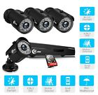 XVIM 4CH 1080P Home Security Camera System Outdoor Video Monitoring CCTV Kit HDD
