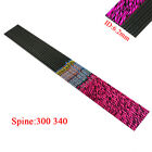"""Archery 30"""" pure Carbon Arrows Shaft pink and black stripe Pattern id6.2mm sp340"""