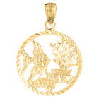 18K Gold Tropical Fish And Coral Pendant (Yellow or White Gold) - AZ711-18K