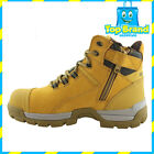 NEW WOLVERINE TARMAC 6 INCH SIDE ZIP MENS Wheat SAFETY BOOTS