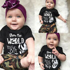 USA Newborn Camouflage Toddler Baby Boy Outfit T-shirt Tops Pants Sports Clothes