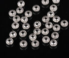 Wholesale 50pcs Alloy Rondelle Gear Loose Spacer Beads Jewelry Making 5/6mm