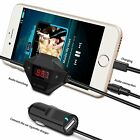 Wireless FM Transmitter Radio Car Kit with Audio Plug & Car Charger for Phone
