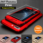 Shockproof Hard Case Cover Protector Skin For Apple iPhone 7 6s + Tempered Glass