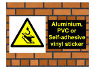 1021 Overhead crane sign 1 weatherproof Aluminium Plaque PVC or Vinyl Sticker