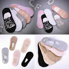 Invisible No Show Nonslip Loafer Lace Boat Liner Low Cut Cotton Socks For Women