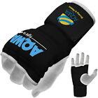 Inner Gloves Hand Wraps Boxing Gel Padded MMA Fight Protector Bandage Kick Black
