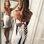 Women Summer Casual Sexy Bodycon Slim Fit Cocatail Party Beach Maxi Dress New
