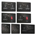 Slimline Screwless Socket Range - Black Nickel