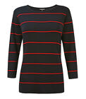 Casamia Women Crew Neck Jumper with Thin Stripes