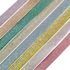 10mm Glitter Pastel Colours Crafting Ribbon 2 Metre Rolls - 8 colours