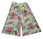 Ladies Size 6-14 Cullotes Long shorts Floral Print Ex store New *LICK*