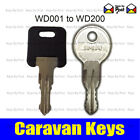 2 x Caravan Keys cut to your code WD001 to WD200 Avondale, Bailey, Swift, Ace