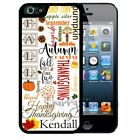 NAME FALL THANKSGIVING RUBBER CASE FOR iPHONE X 8 7 6S SE 5C 5S PLUS TYPOGRAPHY