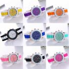 New Women Men Lovers Silicone Candy Colors Analog Quartz Wristwatch Lots