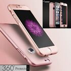 Hybrid 360°Full Protect Tempered Glass Acrylic Case Cover For iPhone 6 6S Plus