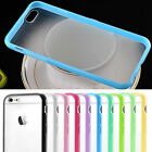 Silicone TPU Bumper PC Matte Clear Back Case Cover Skin For Apple iPhone 6/+Plus