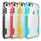 Hybrid Clear Crystal Glossy Silicone Rugged Hard Case Cover for iPhone 7/7 Plus