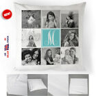 Personalised Collage Monogram Cushion Cover Custom Printed Photos Pillow