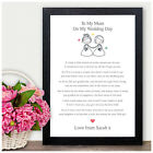 Personalised Mother of the Bride Thank you Gift Keepsake - Wedding Memories Gift