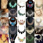 Wholesale Women Pendant Chain Choker Chunky Statement Bib Necklace Jewelry Lots