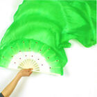 1.8m Hand Made Colorful Belly Dancing Bamboo Long Silk Veils Dance Fans Helpful