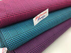 prince of wales check FABRIC 150cm wide, purple,turquoise, pink