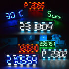 LED Clock Digital Alarm Touch Screen Control Large Two Color Tube Desktop Kit