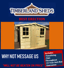 7x6 Garden Shed Fully T&G Tanalised Timber Cladding wooden Hut Sheds Summerhouse