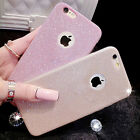 For iPhone 6s 7 Plus Case Glitter Flexible Thin Silicone Matte Phone Cover Skin