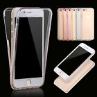 Ultra Thin Hybrid Front+Back Silicone Rubber Cover Case For iPhone 6 4.7/6s Plus