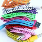 2 Metre Long iPhone 5 / 6 Braided Fabric 8Pin Data Sync Charger Cable