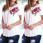 Hot Fashion Womens Loose Short Sleeve Tops Blouse Shirt Casual Cotton T-Shirt