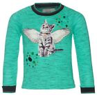 -30% SALE MIM-PI SHIRT 116 oder 128 NEU Angel Cat Langarmshirt Winter 2016/17