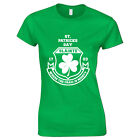 St Patricks Day Where The Craic Is Mighty Iriland Shamrock Clover Womens T Shirt