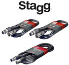 Stagg Microphone Cable, High Quality XLR-XLR Plug, ROHS Compliant, 10/15/20m