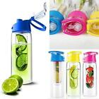 Fruit Fuzer Infusing Infuser Clear Water Bottle Sports Health Juice Maker 700 ML