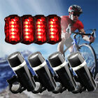 1x 4x 5 LED Bike Bicycle Cycle Front Head Light + Rear Lamp SET White Waterproof