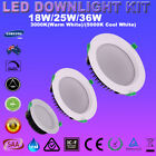 1/6X Dimmable LED Downlight Kits 18/25/36W Recessed Ceiling Lamp Cool Warm White