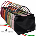 Alma Tonutti Stylish Ladies Leather Slouch Shoulder Bag Made in Italy Cross Body