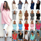 Oversized Women Long Sleeve Knitted Sweater Pullover Jumper Casual Knitwear Tops