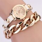 Womens Watchs Rivet Leather Chain Analog Quartz  Bracelet Wristwatch Bangle