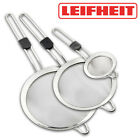 LEIFHEIT Stainless Steel WIRE Mesh SIEVE SET Tea Strainer Kitchen Drainer Filter