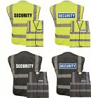 REFLECTIVE SECURITY BLACK OR YELLOW HI VIS VEST HI VIZ WORKWEAR, BLUE BADGE