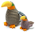 BENJIE THE TOUCAN KNITTED SOFT TOY BIRD SUITABLE FROM BIRTH 2 SIZES