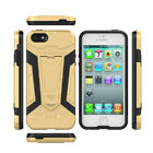 Shockproof 2 in 1 Soft Rubber + PC Defender Kickstand Case Cover For iPhone 5 5S