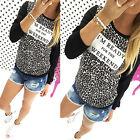 Womens Long Sleeve Floral Print Shirt Casual Blouse Cotton Tops T-shirt Pullover