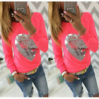 Tops Blouses - Womens Long Sleeve Floral Print Shirt Casual Blouse Cotton Tops Tshirt Pullover